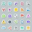 25 basic iconset communication, siticker