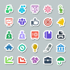 25 basic iconset business, sticker