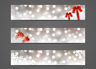 Set of horizontal banners 500 x 100 size
