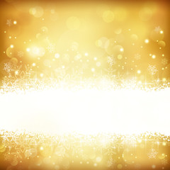 Golden glowing Christmas background