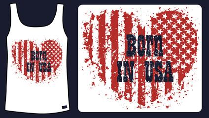 Born in usa t-shirt