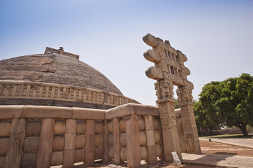 Great Stupa built by Ashoka the Great at Sanchi, Madhya Pradesh, India