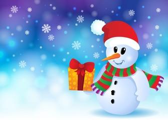 Christmas snowman theme image 3