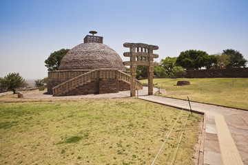 Ancient stupa at Sanchi, Madhya Pradesh, India