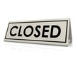 Closed table sign
