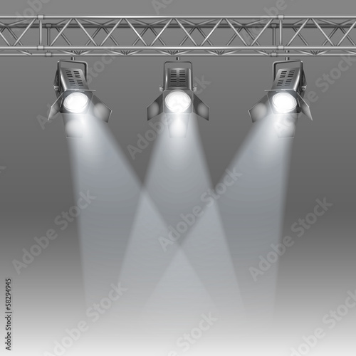 stage with projectors