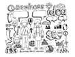 hand draw doodle Business doodles
