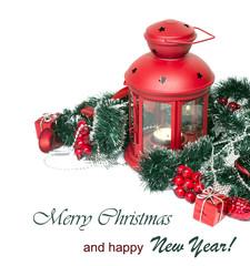 Christmas and New Year Decorations isolated
