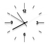 Watch stopwatch graphic element white background vector