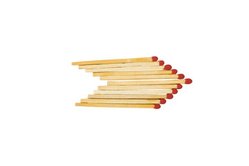 Matchsticks in the form of arrow shape