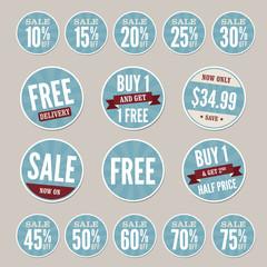 Vintage Retail Stickers