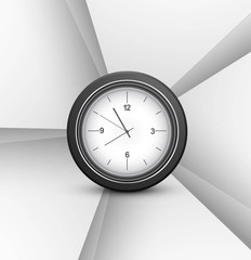 Swirl wave single clock Vector background