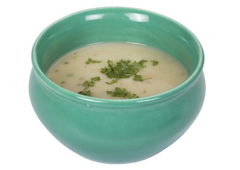 Close-up of a bowl of soup