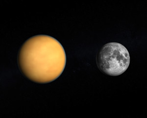 Saturn Moon Titan and the Earth Moon