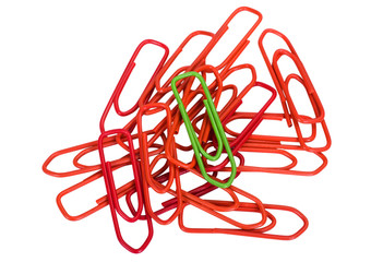Close-up of paper clips