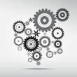 Abstract vector cog, gears