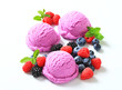 Triple berry fruit ice cream