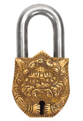 Close-up of a padlock