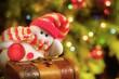 beautiful Christmas card with ornaments handmade