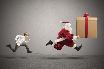 Child wants a present from Santa Claus