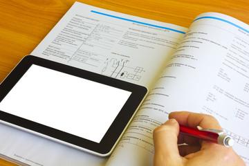 Tablet computer over engineering journal