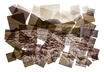 highland stream collage