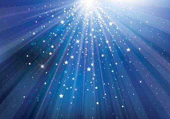 Vector sky background with lights and stars.