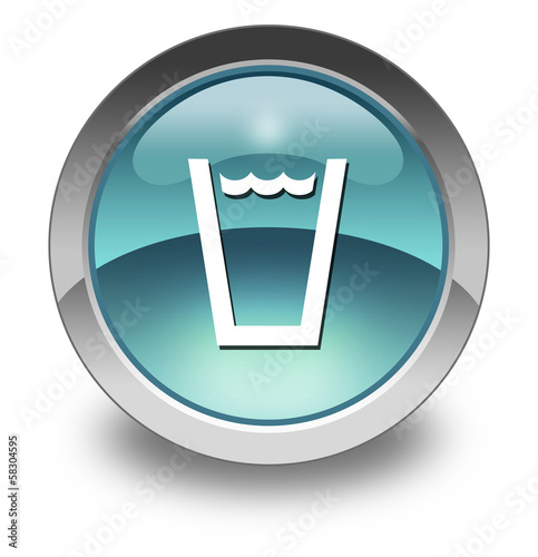 "Light Blue Glossy Pictogram ""Drinking Water"""