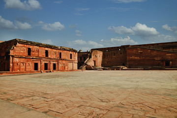 Clouds over Agra Fort, Agra, Uttar Pradesh, India