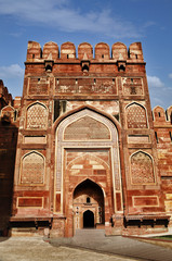 Entrance gate of a fort, Agra Fort, Agra, Uttar Pradesh, India