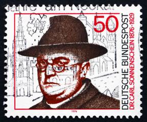 Postage stamp Germany 1976 Dr. Carl Sonnenschein