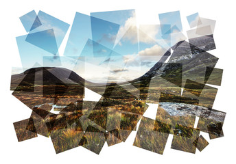 scottish highlands abstract