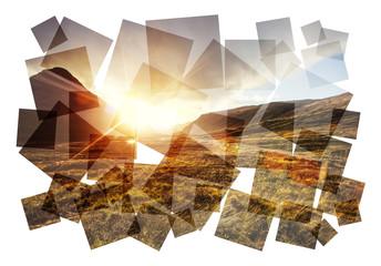 scotland highlands collage