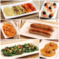 Collage of traditional Catalan recipes