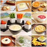 Collage of sauces, dips, pates and spreads