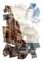 ocean cliffs collage