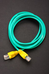 Green - yellow LAN cable