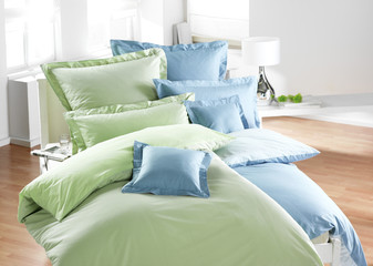 Bettwäsche blau/grün