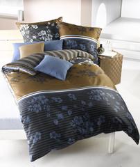 Bettwäsche braun/blau