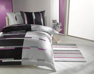 Bettwäsche violett/grau