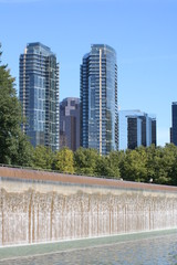 Downtown Bellevue Washington Skyscrapers and Park