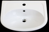 new white sink on a black background