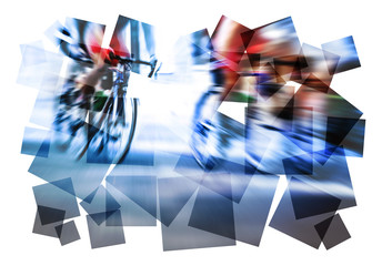 cycling action abstract