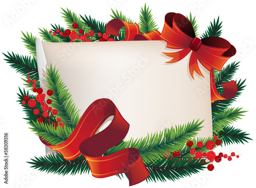 Christmas Wreath with paper