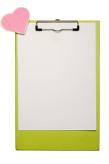 Clipboard With Heart Shape Sign