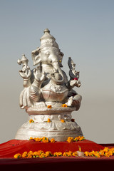 Statue of Lord Ganesha a Hindu God, Pushkar, Ajmer, Rajasthan, India
