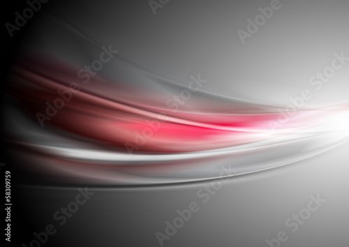 Abstract vibrant vector waves