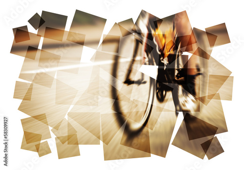 graphic road bike blur