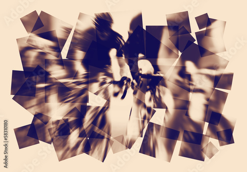 road bike race abstract
