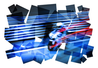 motorcycle action abstract
